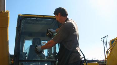 Heavy Equipment Glass Repair